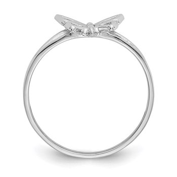 10K White Gold Butterfly Ring