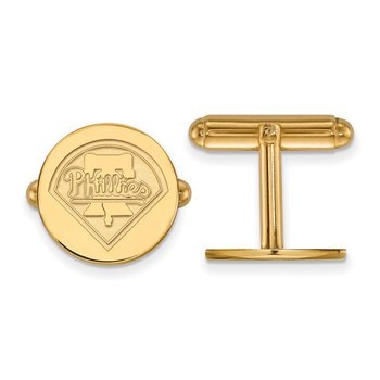 Gold-Plated Sterling Silver Philadelphia Phillies MLB Cuff Links