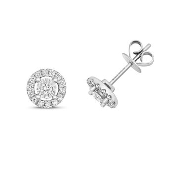 Diamond Illusion Cluster Studs