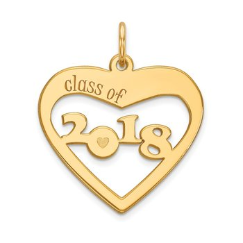 14k CLASS OF 2019 Heart Cut Out