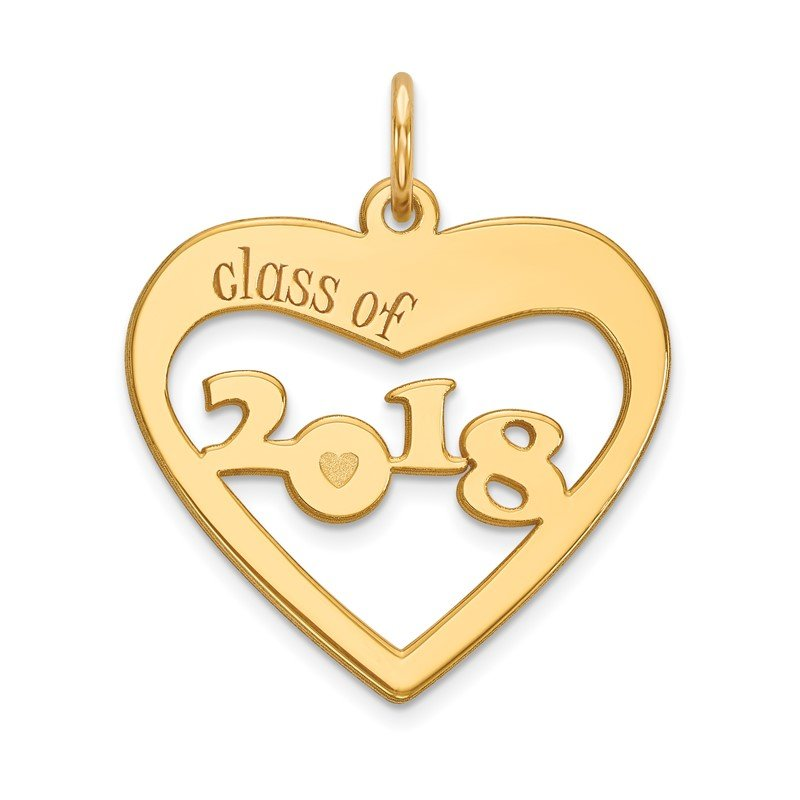 J.F. Kruse Signature Collection 14k CLASS OF 2019 Heart Cut Out