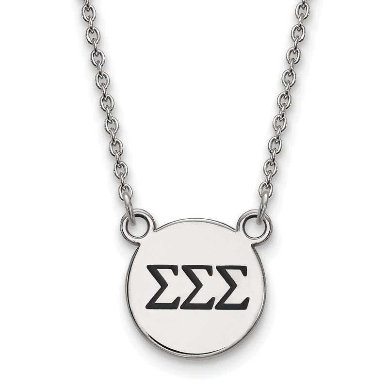 Greek Life Sterling Silver Sigma Sigma Sigma Greek Life Necklace