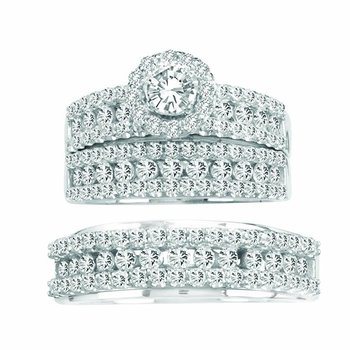 14K 3.01Ct Diamond Trio Set