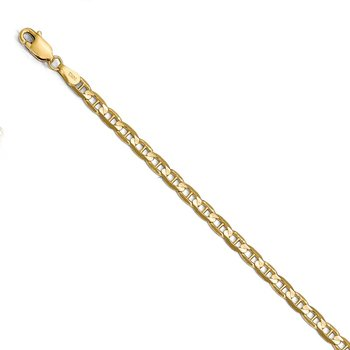 Leslie's 14k 3.75mm Concave Anchor Chain