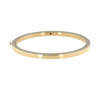 #26562 Of 18Kt Gold Oval Bangle