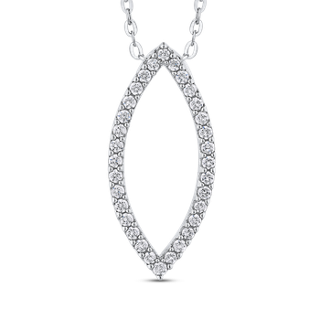 2/3 ct Round White Diamond Fashion Pendant with Chain