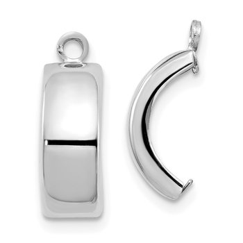 14k White Gold Polished Earring Jackets