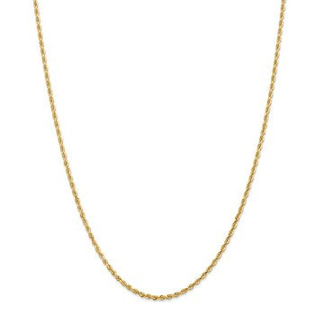 14k 2.25mm Diamond-cut Quadruple Rope Chain Anklet