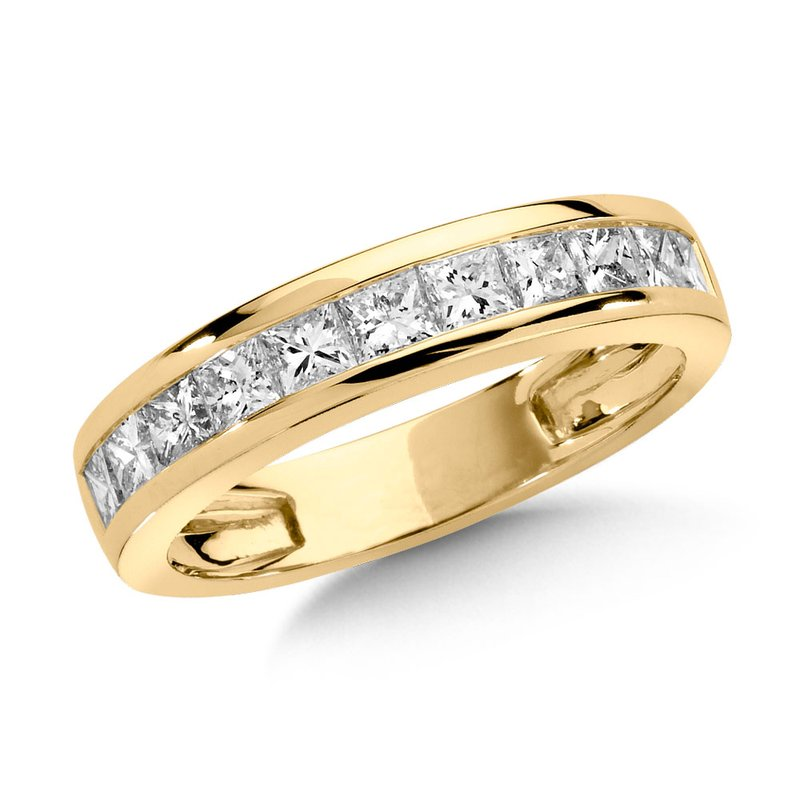 SDC Creations Channel set Princess cut Diamond Wedding Band 14k Yellow Gold (3/4 ct. tw.)