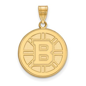 Gold-Plated Sterling Silver Boston Bruins NHL Pendant