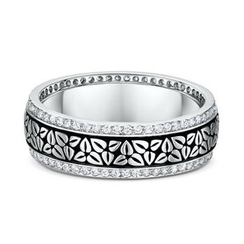 Venetian Lace Diamond Eternity Band