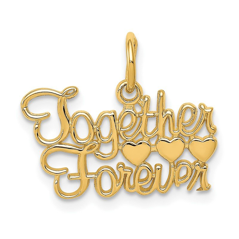 Quality Gold 14K TOGETHER FOREVER Charm