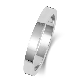 18Ct White Gold 2.5mm Flat Flat Wedding Ring