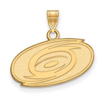 Gold Carolina Hurricanes NHL Pendant