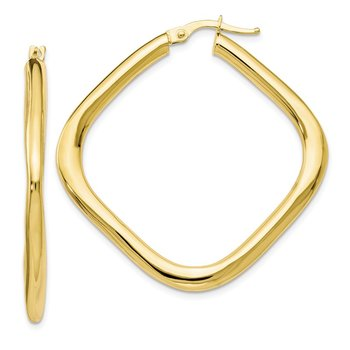 Leslie's 10k Polished Large Square Hoop Earrings