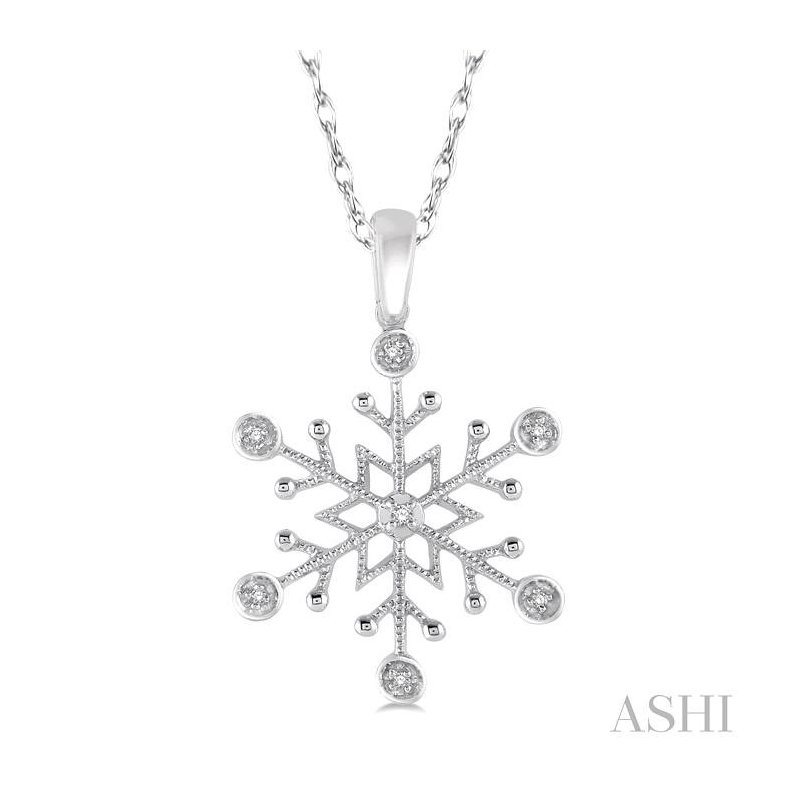 Barclay's Signature Collection snow flake diamond pendant