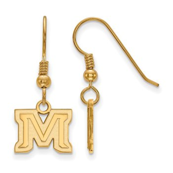Gold-Plated Sterling Silver Montana State University NCAA Earrings