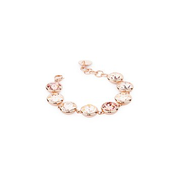 316L stainless steel, rose gold pvd and blush rose, light peach and silk Swarovski® Elements crystals