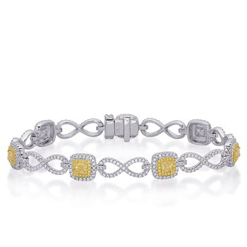 Yellow & White Gold Yellow Diamond Brac