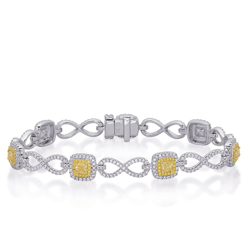 S. Kashi  & Sons Yellow & White Gold Yellow Diamond Brac