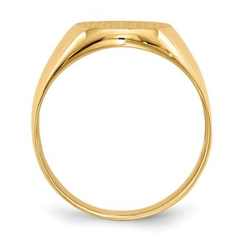 14k 14.5x12.0mm Open Back Men's Signet Ring