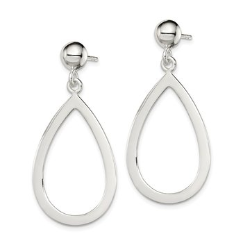 Sterling Silver Teardrop Post Dangle Earrings