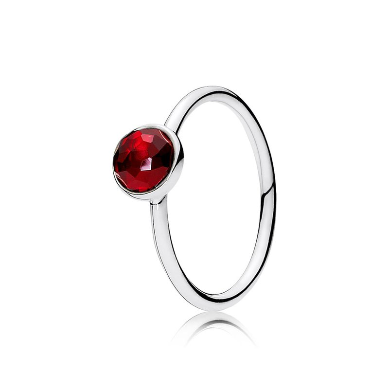 PANDORA July Droplet, Synthetic Ruby