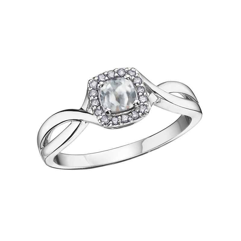 VanValkenburg Collection Birthstone & Diamond Ladies Ring