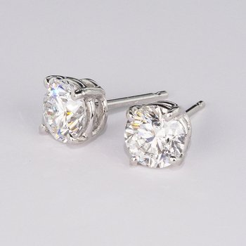 3.06 Cttw. Diamond Stud Earrings