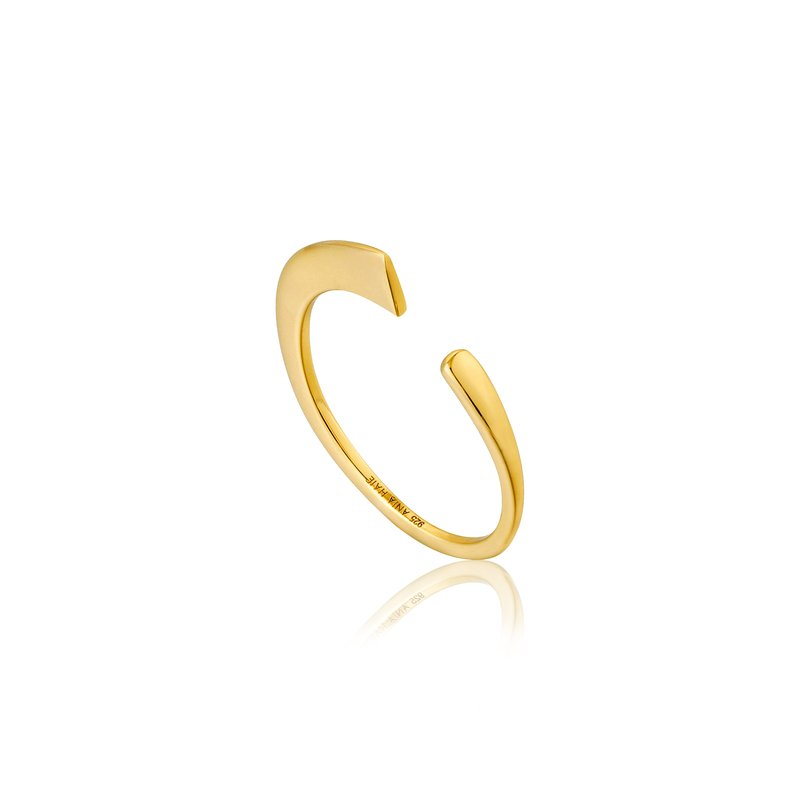 Ania Haie Geometry Curved Adjustable Ring