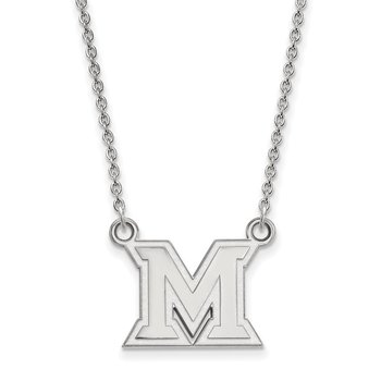 Sterling Silver Miami University NCAA Necklace