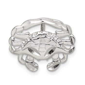 Sterling Silver Crab Slide Charm