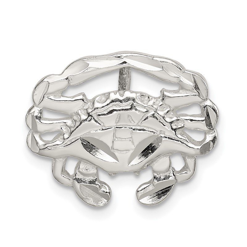 Quality Gold Sterling Silver Crab Slide Charm