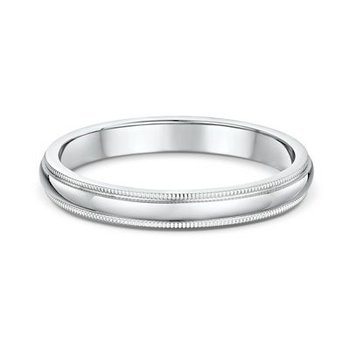 3mm Millgrain Wedding Band