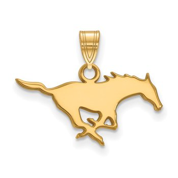 Gold Southern Methodist University NCAA Pendant