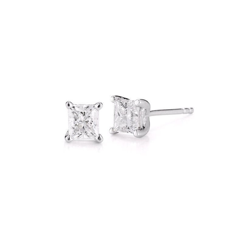 Paramount Gems 1 cttw Princess Cut Diamond Studs