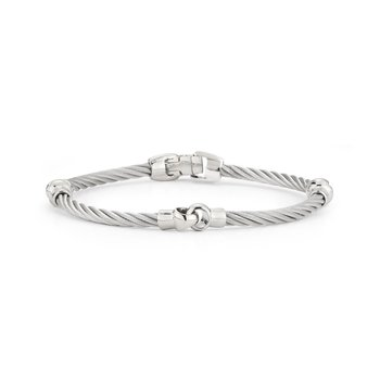 Grey Cable Interlocking Bracelet