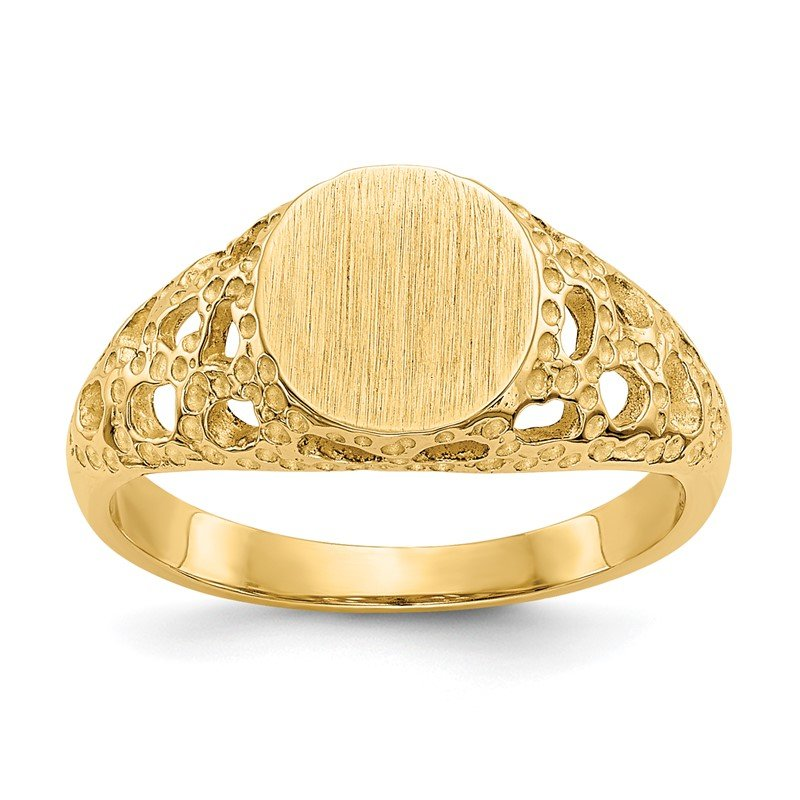 Quality Gold 14k Childs Fancy Signet Ring