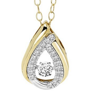 14K Diamond Rhythm Of Love Pendant 1/5 ctw