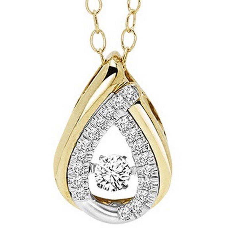 Rhythm of Love 14K Diamond Rhythm Of Love Pendant 1/5 ctw