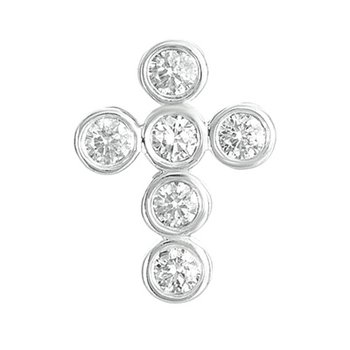 Diamond Cross Pendant 16mm
