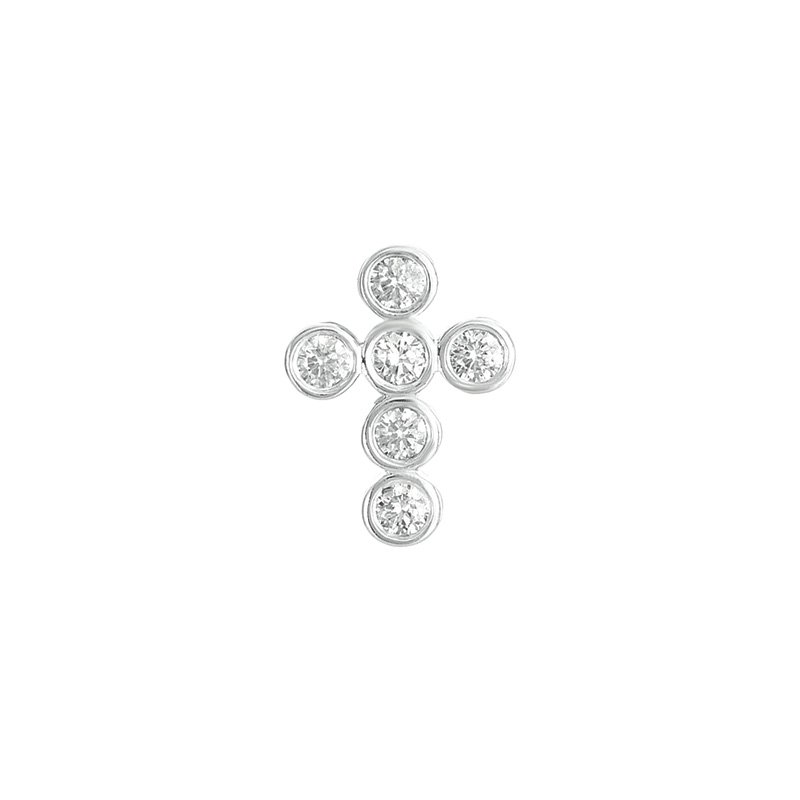 S. Kashi  & Sons Diamond Cross Pendant 16mm