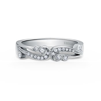 Artistic Waves Diamond Milgrain Wedding Band