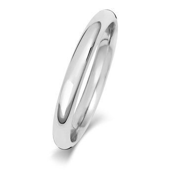 9Ct White Gold 2.5mm Traditional Court Wedding Ring