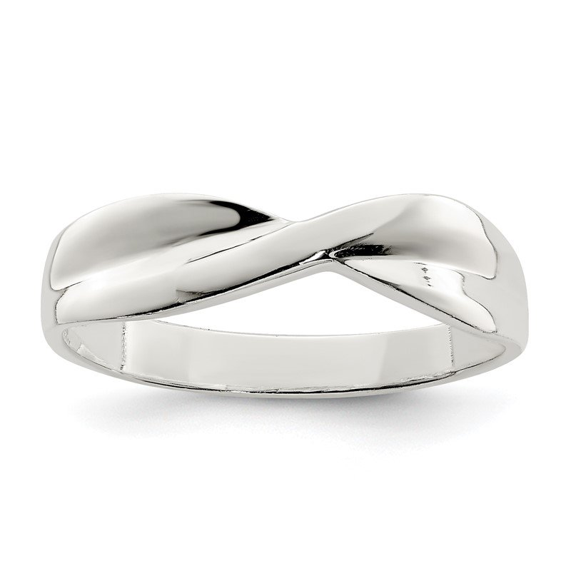 J.F. Kruse Signature Collection Sterling Silver Polished Twist Ring