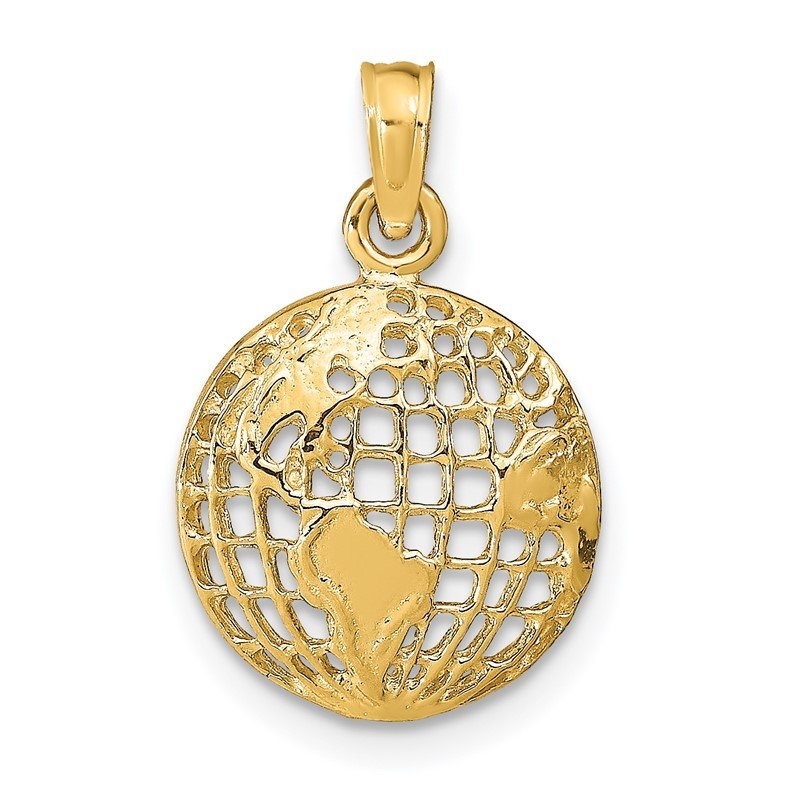 Quality Gold 14k Polished Globe Pendant