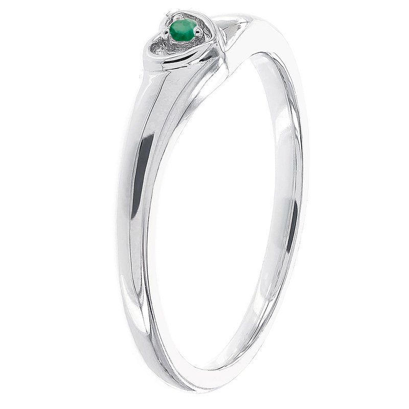03fcb89473d53 Moody's Jewelry: Moody's Signature Sterling Silver Round Emerald ...