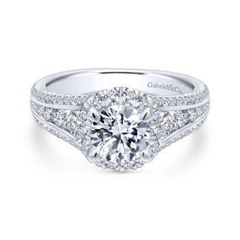 Channel Set Side Diamond Engagement Ring