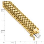 Quality Gold 14k 7.25in 12.5mm Polished Mesh Bracelet