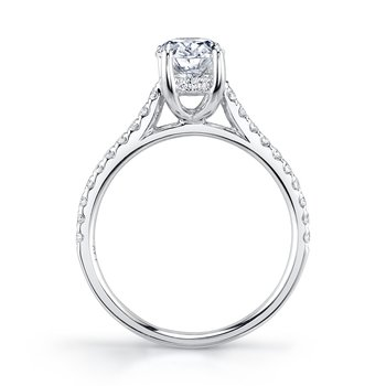 MARS 27039OV Engagement Ring, 0.27 Ctw.